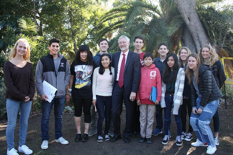 Anacapa School received an unexpected $1 million, enabling it to continue its experience-based learning, which included a meeting between students and German Consul General Hans Jörg Neumann in 2016 to discuss European immigration policy.
