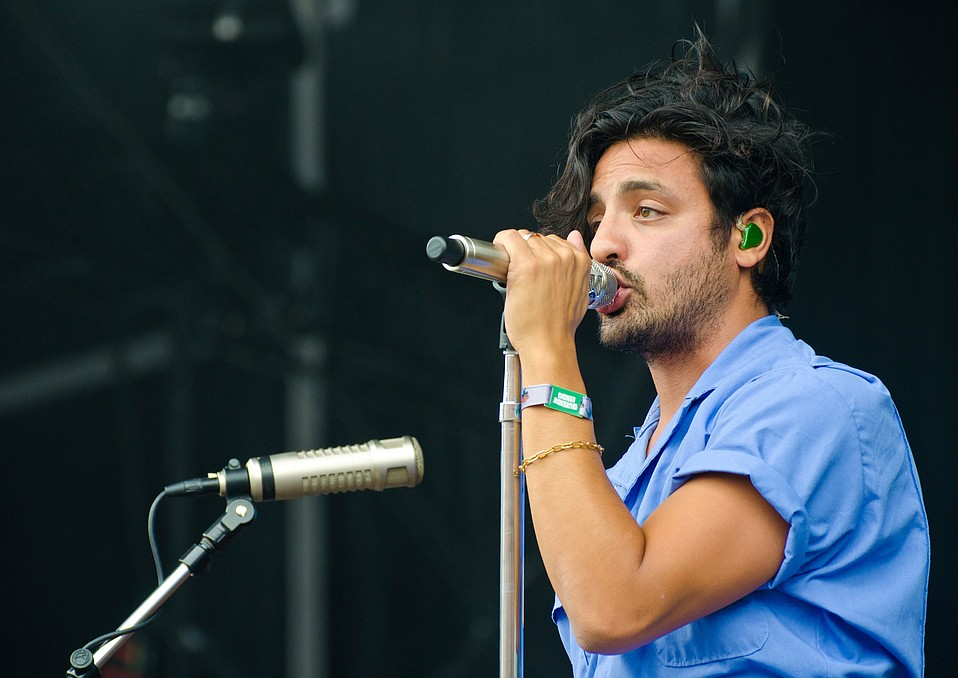 """Seven years ago, we played for a crowd of 200 people here in San Francisco,"" lead singer Sameer Gadhia of Young the Giant told fans at Outside Lands 2017. Pictured here, on the Lands End main stage at Outside Lands, they performed for an audience of 40,000."