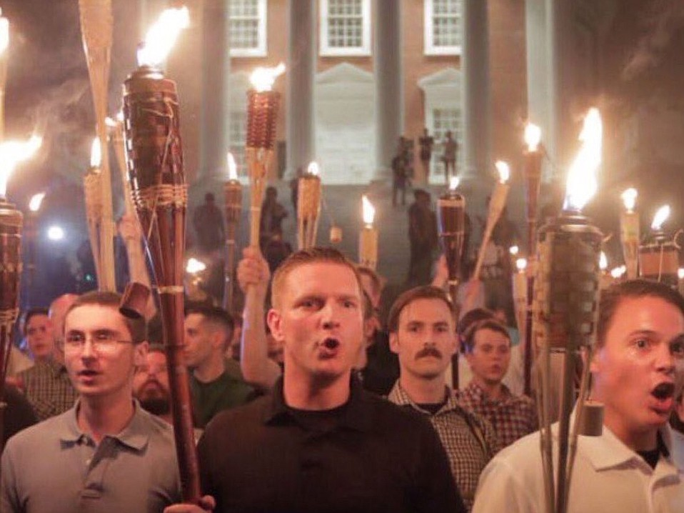 A handful of 'Very Fine' white nationalists.