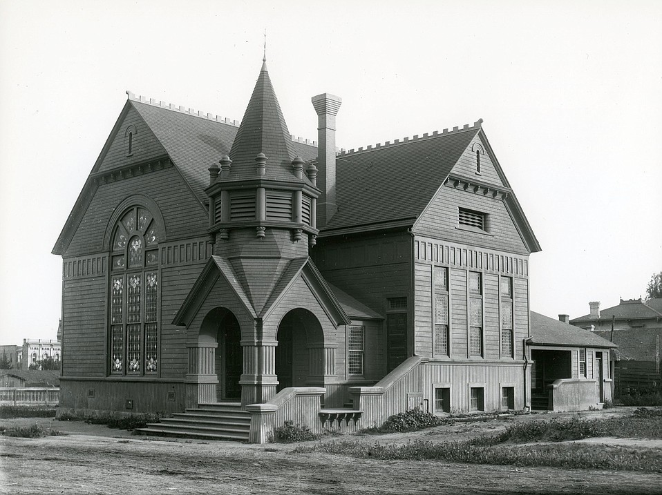 For the growing congregation, a second church was built at Figueroa and Anacapa streets.