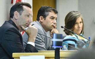 Supervisors Steve Lavagnino, Das Williams, and Joan Hartmann