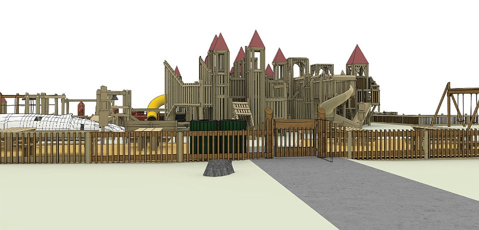 Structural reinforcements and gated entries and fencing are part of the renovation of Kids World that commences September 5 and is slated to finish December 15, 2017.