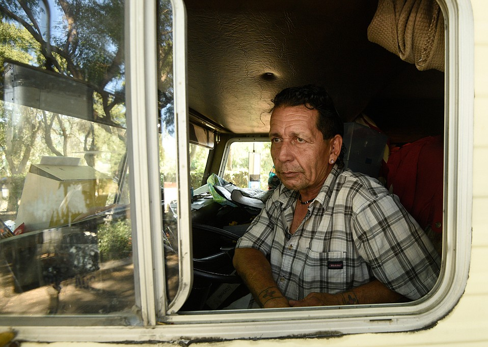 RV owner Jim Two Poneys worried he might get squeezed out of town.