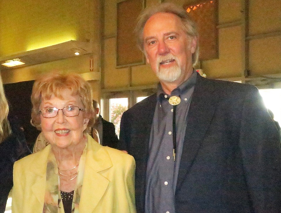 Former Santa Barbara city councilmember and county supervisor Jeanne Graffy, pictured here with her son Neal Graffy in May 2017, died on Wednesday.