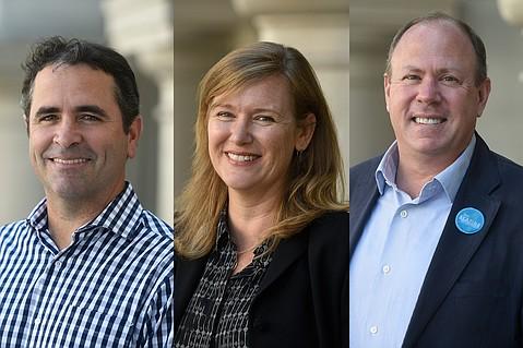 District 4 candidates Jay Higgins, Kristen Sneddon, and Jim Scafide