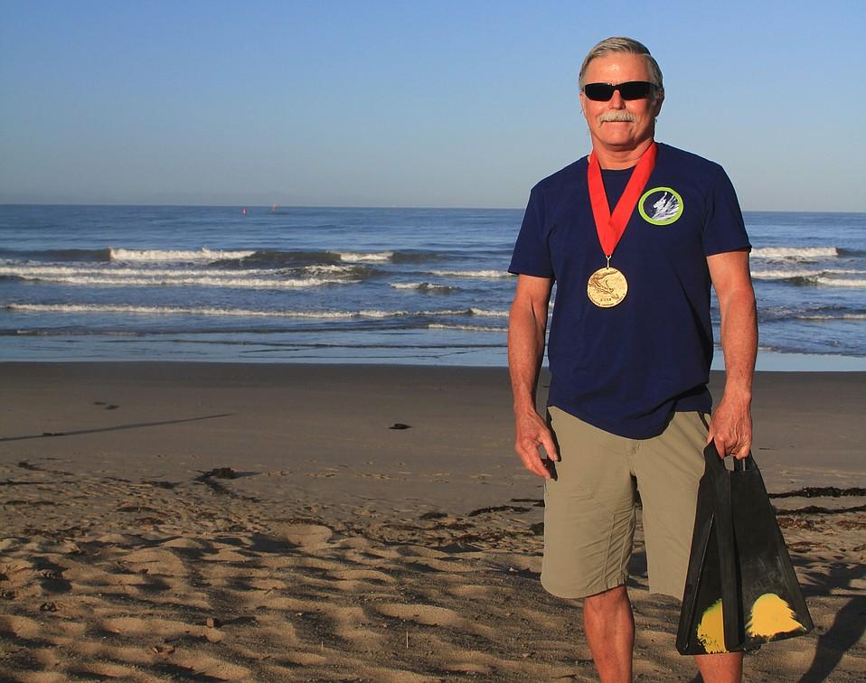 Bodysurfer Jim Isaac