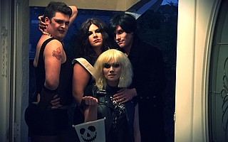 The cast of <em>The Rocky Horror Show</em> relies on a foundation of stage makeup for their looks.