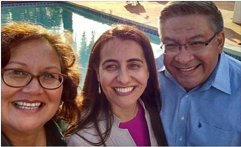 Mayoral candidate Cathy Murillo (left) has been endorsed by Assemblymember Monique Limón and Congressmember Salud Carbajal in her run to lead the City of Santa Barbara.