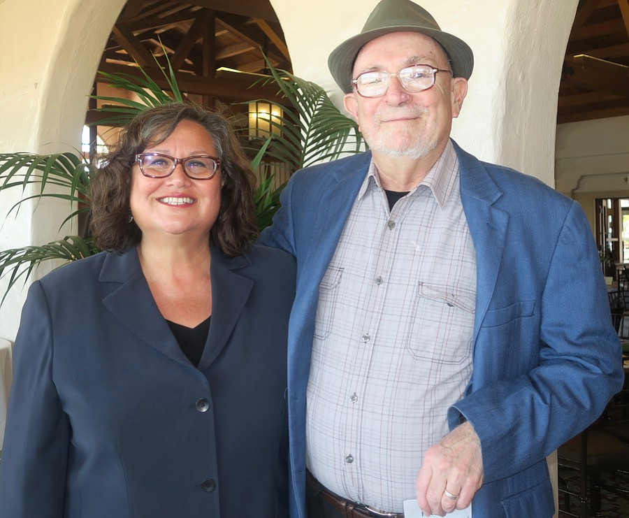 Cathy Murillo and Dick Flacks at a CAUSE Action Fund Leadership reception in 2017