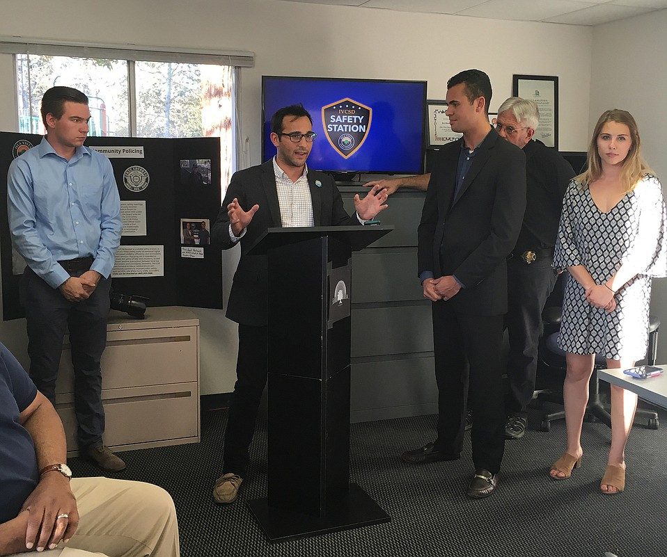 Jonathan Abboud, interim general manager for Isla Vista's Community Services District, announced student officers will be stationed throughout Isla Vista on weekend nights to improve both community relations and safety.