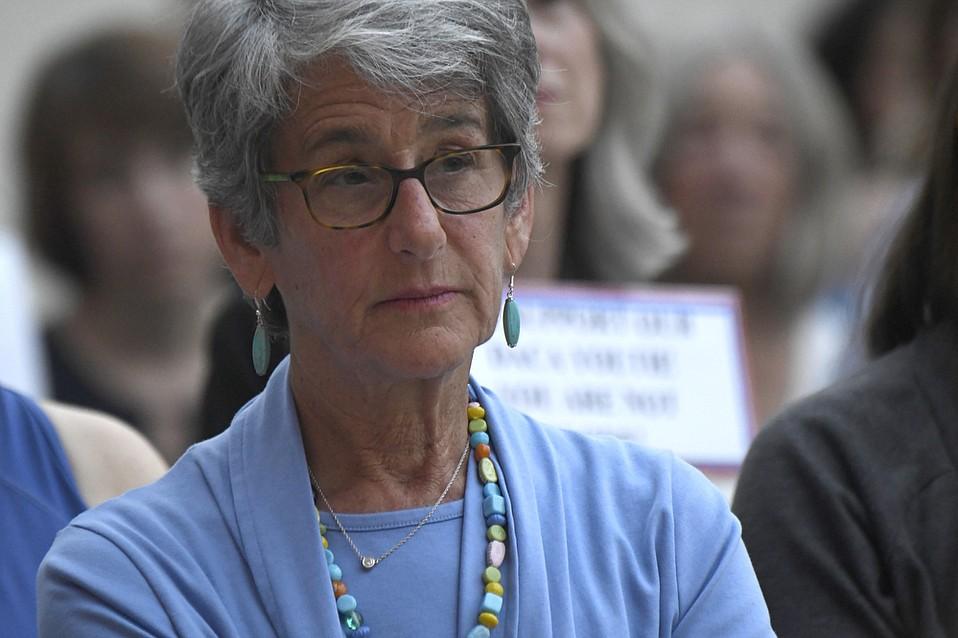 State Senator Hannah-Beth Jackson at a DACA rally in September