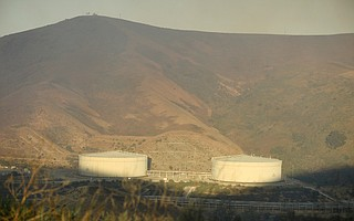 Exxon Mobil's Las Flores Facility, as seen during 2016's Sherpa Fire