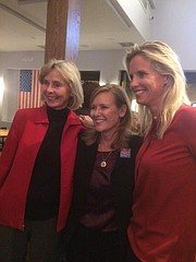 From left: Lois Capps, Kristen Sneddon, and Laura Capps