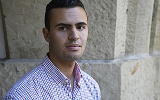 Ethan Bertrand, board president of the Isla Vista Community Services District, faced verbal abuse and slurs at the hands of Gelb last year.