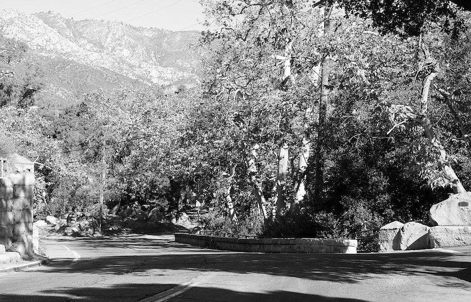 On its way up Mission Canyon, the road leads into a more intimate and rural landscape created by the forces of nature and careful planning of the earliest settlers.