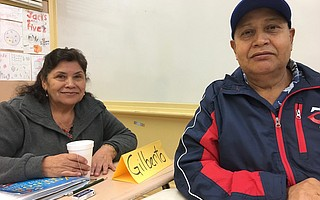 María del Rosario Aguayo and her husband, Juan Aguilera, attended citizenship classes for two years before taking and passing the civics teston November 13in Los Angeles. The couple has been living and working in Goleta for more than 25 years.