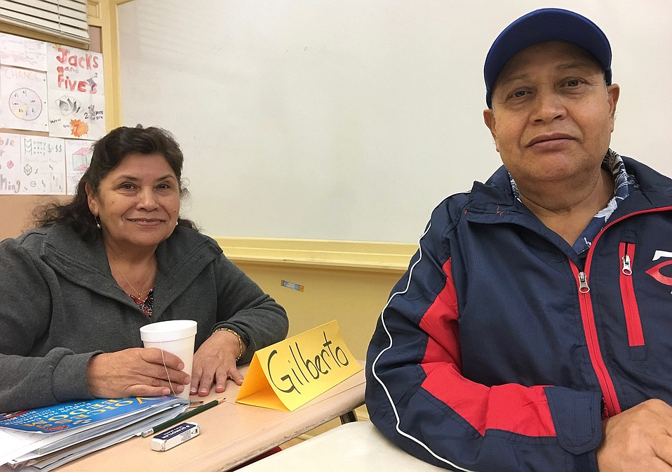 María del Rosario Aguayo and her husband, Juan Aguilera, attended citizenship classes for two years before taking and passing the civics test on November 13 in Los Angeles. The couple has been living and working in Goleta for more than 25 years.