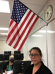 Josefina Valdez, a Mexican immigrant who lives in the Santa Ynez Valley, recently became an American, joining a wave of new citizens across the country. She took citizenship classes offered by Allan Hancock College at the Santa Ynez Valley Union High School.