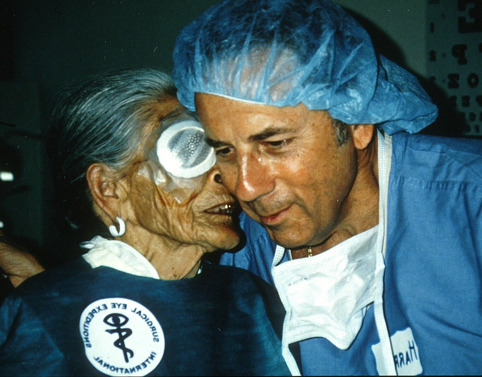 Thanks to Harry Brown and the nonprofit he started — Surgical Eye Expeditions International — a half-million people living in third-world countries had their sight restored.