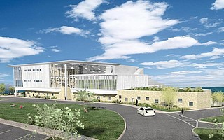 Artist rendering of West Campus building at Santa Barbara City College