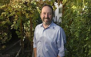 Pat Burns at his Westside home in Santa Barbara