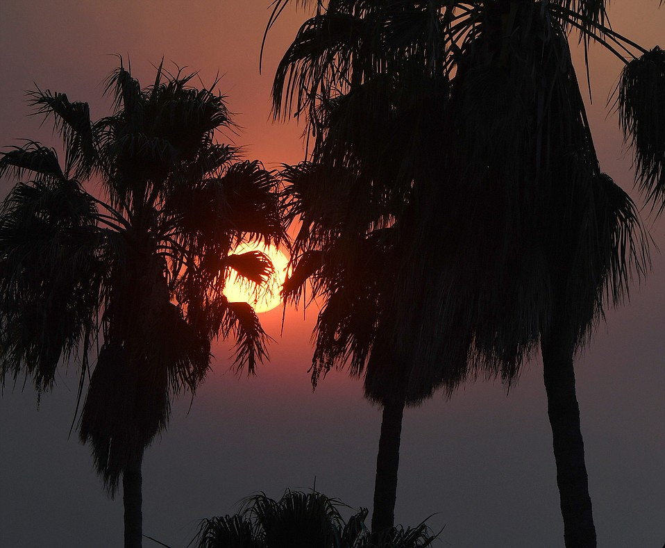 Smoke from the Thomas Fire started choking up Santa Barbara skies in the opening days of the blaze.