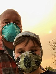 The author and his wee laddie