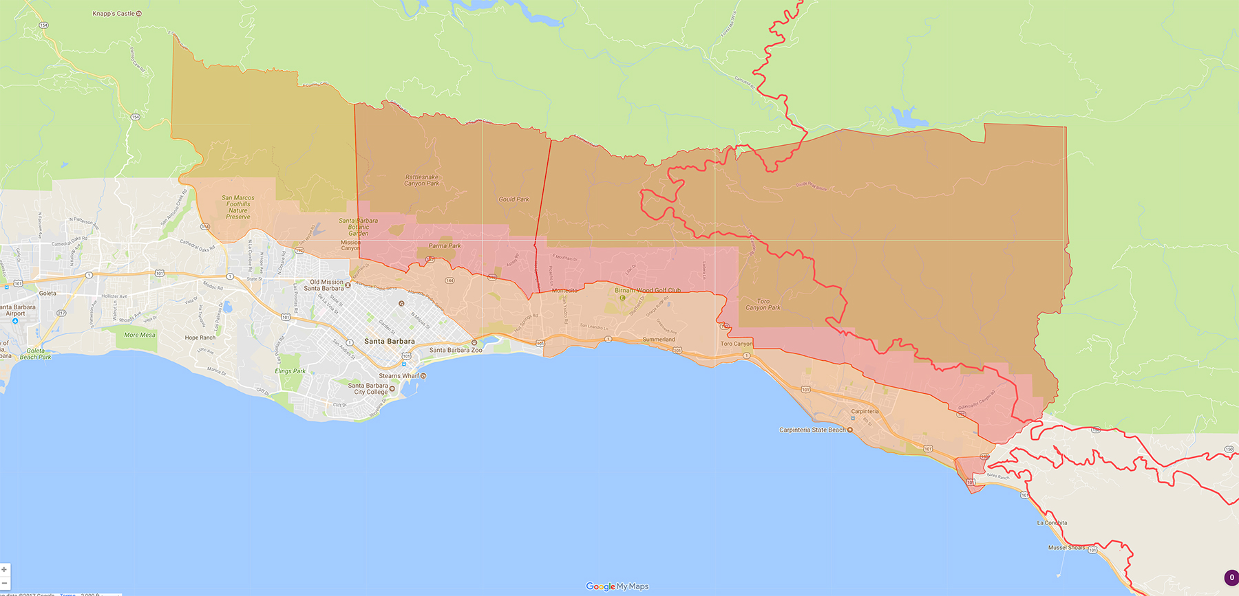 Why A Good Thomas Fire Map Was Hard To Find