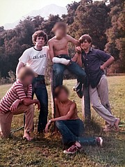 As a college student, Gary Goddard (standing on the left) led a group of highschool- and junior-high-aged boys that included Mark Driscoll (standing right).