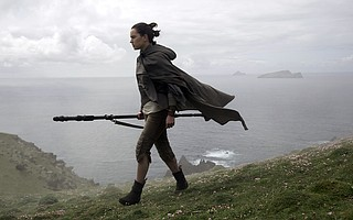 Daisy Ridley reprises her role as Rey in writer/director Rian Johnson's follow-up to 2015's 