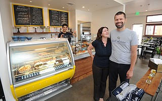 Kathryn and Michael Graham opened their expanded C'est Cheese store and cafe in 2014.