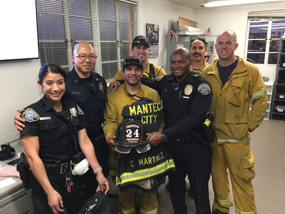 Santa Barbara police officers recovered equipment stolen from firefighters from Manteca, CA, when they were sleeping near fire lines on Monday.