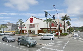 Artist's rendering of a Target store at the Galleria in Santa Barbara, located at the corner of State Street and La Cumbre Road