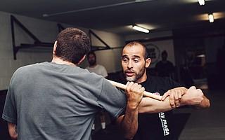 Krav Maga Family Self Defense Center lead instructor Pedro Sanchez (right)