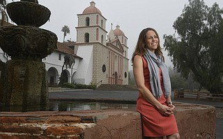 Kirsten Mclaughlin at the Santa Barbara Mission