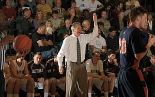 MR. 500:  John Moore is going strong in his 25th season as men's basketball coach at Westmont College.