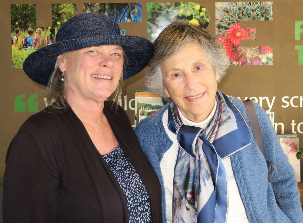 Director of Education Frederique Lavoipierre and member Sheila Lodge (former Santa Barbara mayor).