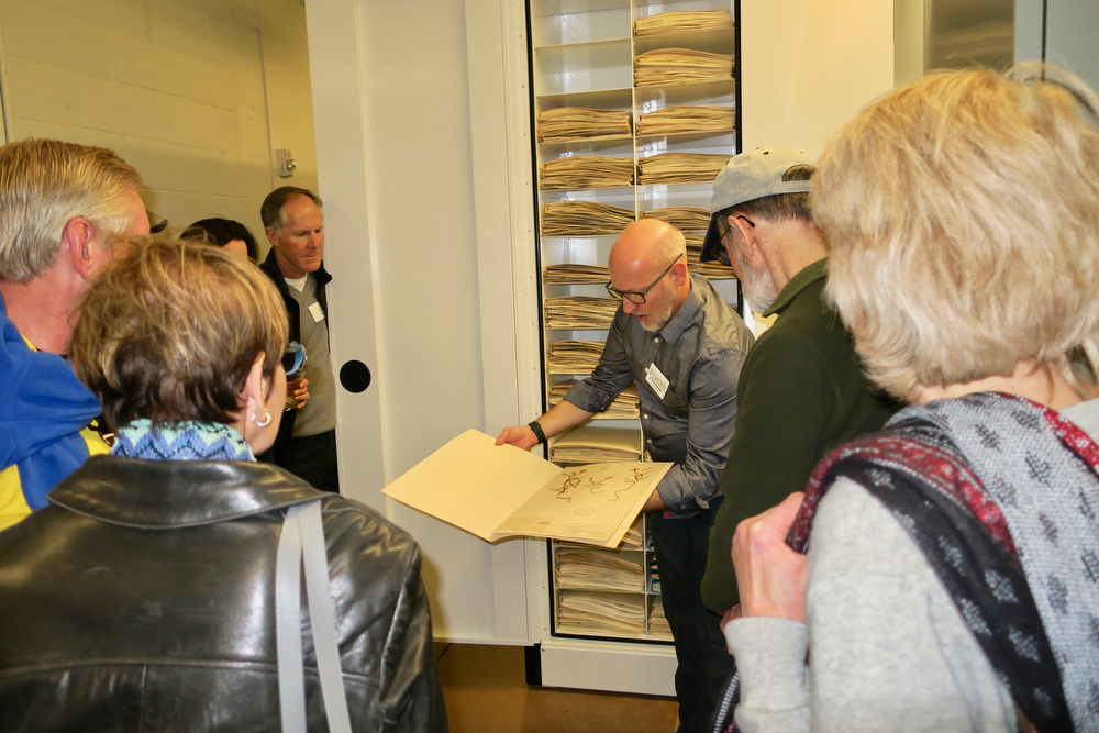 Executive Director Steve Windhager shares a specimen in the Herbarium.