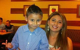 Jonathan Benitez and his mother, Faviola Benitez Calderon