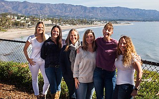 S.B. Support Network founders, from left: Jennifer Harris, Holly Parker, Linda Meyer, Laura Zoltan, Anna Stump, and Tara Haaland-Ford. Not pictured: Treasurer Cara Chiarappa.