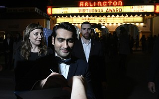 2018 Santa Barbara International Film Festival Virtuosos Award honoree Kumail Nanjiani at the Arlington Theatre (Feb. 3, 2018)
