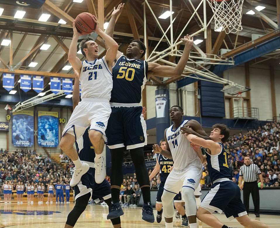 Sophomore guard Max Heidegger has been shooting the lights out at the Thunderdome, where UCSB's men are undefeated this season.