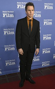 Santa Barbara International Film Festival 2018 Rivera Award honoree Sam Rockwell on the red carpet at the Arlington Theatre. (Feb. 7, 2018)