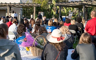 "A community gathering remembered Lydia, Pasta, and Oom Sutthithepa, and Richard ""Loring"" Taylor, who died in the Montecito debris flow."