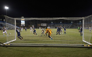 The L.A. Galaxy battle against Fresno FC at Harder Stadium