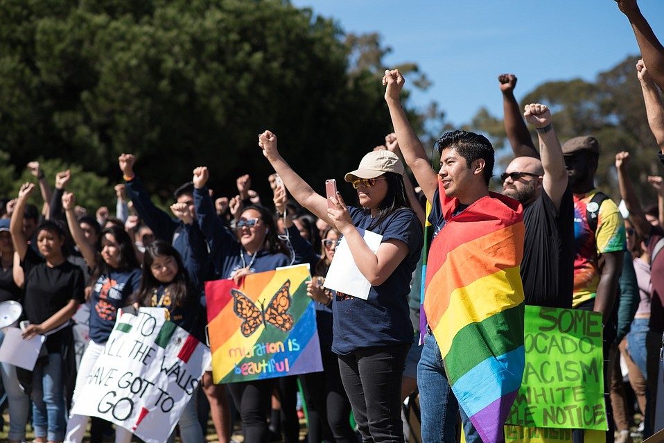 Hundreds of UCSB students walked out on March 5 to demand more resources and support for undocumented students on campus.