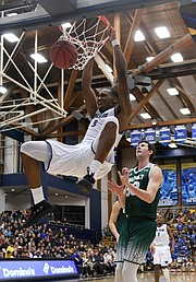 A dunk by Jalen Canty puts an exclamation point on UCSB's victory of Cal Poly SLO
