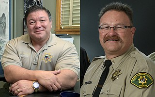 Lieutenants Eddie Hsueh (left) and Brian Olmstead are set to challenge incumbent Sheriff Bill Brown.