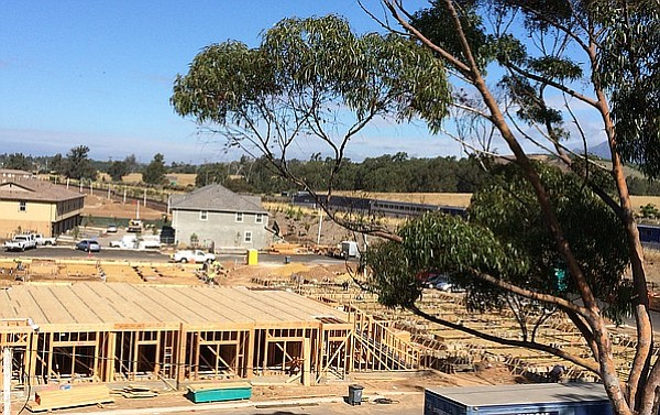 Changes to Goleta's planning department have been postponed for a year or two. The department's workload may soon change as massive developments, like Village at Los Carneros pictured here, may give way to infill projects as most vacant acreage has been claimed.
