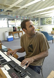 After living in Isla Vista as a UCSB student and then briefly on Santa Barbara's Eastside, Jack Johnson moved into an apartment in Montecito, seen here in 2002.